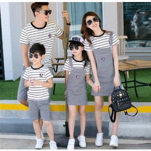 親子お揃いで Tシャツ ワンピース パンツ 女の子 子ども服 夏物 レディース キッズ ペアルック カップル 家族|rainbow-beach88