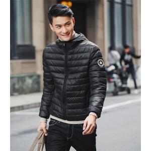 ダウンジャケット メンズ ダウンコート フード付き 冬 暖か...