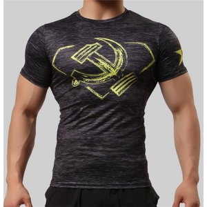 スポーツウェア Tシャツ メンズ レギンス フィットネス ランニング トレーニング 吸汗速乾 ウォーキング スポーツズボン ストレッチ|rainbow-beach88