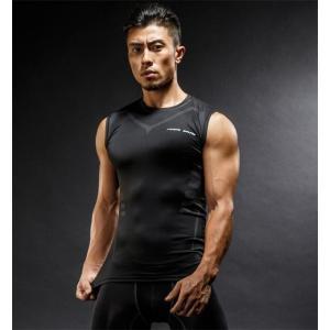 スポーツウェア Tシャツ ベスト メンズ レギンス フィットネス ランニング トレーニング 吸汗速乾 ウォーキング スポーツズボン ストレッチ|rainbow-beach88