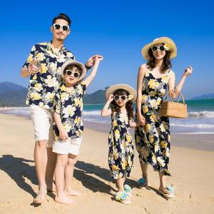 アロハシャツ メンズ 結婚式 親子コーデ アロハシャツ 親子 ペアルック 父の日 親子 お揃い アロハ ワンピース 花柄リゾート