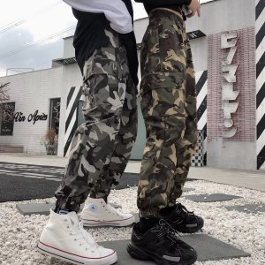 ミリタリー パンツ 迷彩柄 ユニセックスメンズ レディース 大きいサイズ パンツ 軍パン ヒップホップダンス 衣装 カーゴパンツ ゆったり ストリート 大人|rainbow18-store