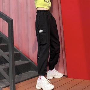 ヒップホップ 運動パンツ ロングパンツ レディース ダンスウェア HIPHOP ステージ ダンス衣装 公演 ゆったり ストリート 男女共用|rainbow18-store