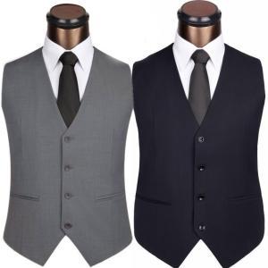 ベスト メンズ フォーマルベスト ビジネス 飲食店 グレー 黒  結婚式 二次会 ジレベスト スーツ...