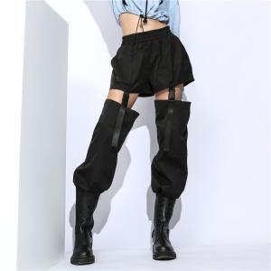 2WAY パンツ ナイロン 無地  ブラック ドロスト ダンス 衣装 韓国 ヒップホップ レディース男女兼用|rainbow18-store