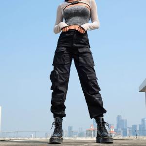 ボトムス カーゴパンツ ロゴ スポーティ ユニセックス ダンス 衣装 韓国 ファッション 大きいサイズ 個性的 服 原宿系 男女兼用|rainbow18-store