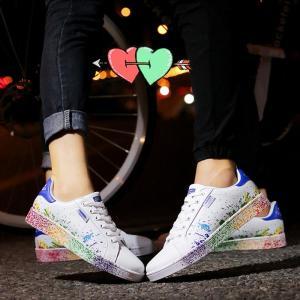 新作 男女兼用 カップル カップルお揃い ペアルック ペアお揃い 靴 カップル靴 スニーカー メンズ レディース ランキング スポーツ 春夏 ローカ rainbow18-store