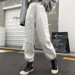【特価1680】ボトムス カーゴパンツ ロゴ スポーティ ユニセックス ダンス 衣装 韓国 ファッション 大きいサイズ 個性的 服 原宿系 男女兼用|rainbow18-store