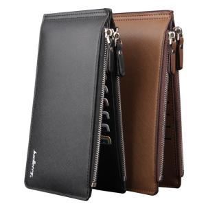 長財布 メンズ 超薄い 二つ折り メンズ カードケース カード入れ 大容量 軽量 超薄型財布 送料無...