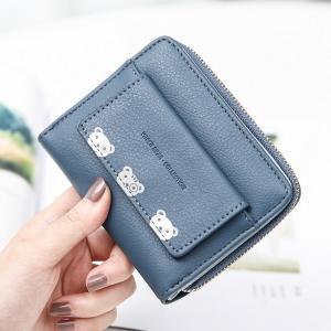c84c640611d1 ... ミニ財布 レディース ミニバッグ 二つ折り 小さい シンプル 小銭入れ コンパクト ウォレット かわいい 人気 プレゼント ...