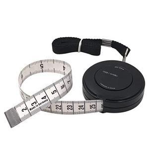 FEELCAT 巻き尺 自動巻取り式 150cm/60inch 巻尺 テープメジャー 両面用 テーラ...