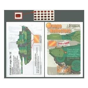 エシュロンデカール(MS) D356035 1/35 スエーデンAFVオレンジ反射板デカール|rainbowten
