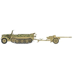 ドラゴン 6732 1/35 1t ハーフトラック Sd.Kfz.10/5cm PaK38 対戦車砲|rainbowten