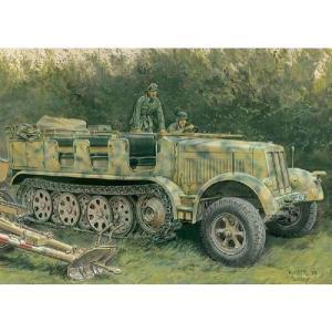 サイバーホビー(グリーンボックス) 6794 1/35 WWII ドイツ Sd.Kfz.7 8トンハーフトラック 1943年生産型(スマートキット)|rainbowten