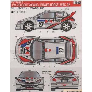 スタジオ27 DC561C 1/24 プジョー206 WRC POWER HORSE '02 デカール|rainbowten