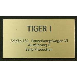 cobaanii mokei工房 FS-026 AFVネームプレート WW.II ドイツ タイガーI 初期生産型 サイズ:35x55(mm) アクリル板|rainbowten