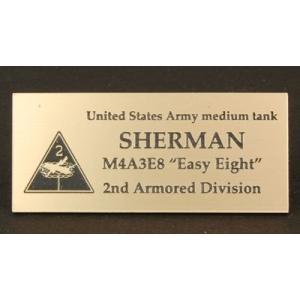 cobaanii mokei工房 FS-046 AFVネームプレート WW.II アメリカ シャーマン 第二機甲師団 サイズ:24x55(mm) アクリル板|rainbowten