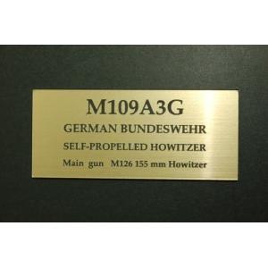 cobaanii mokei工房 FS-077 AFVネームプレート ドイツ連合軍 M109A3G 自走砲 サイズ:24x55(mm) アクリル板|rainbowten