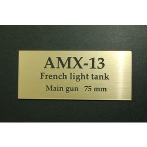 cobaanii mokei工房 FS-078 AFVネームプレート フランス 軽戦車 AMX-13 サイズ:24x55(mm) アクリル板|rainbowten