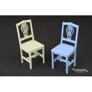 cobaanii mokei工房 ウッデンフォルム WF-023 1/12 レトロな椅子セットA(2脚入り)|rainbowten