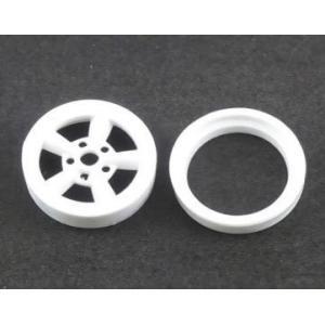ASUKA MODEL(アスカモデル) Orange wheels 1/24 OW-04 A-style(スタイル) 白色4個(1台分) オマケパーツ:超深リム ※15インチ相当 rainbowten