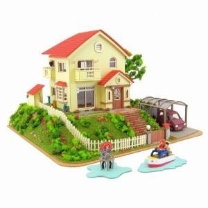 さんけい MK07-08 1/150 みにちゅあーとキット 宗介とポニュの家 組み立て完成サイズ(W105/D105/H70mm)