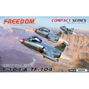 フリーダムモデル コンパクトシリーズ 162704 米空軍 F-104 & TF-104 2機セット|rainbowten