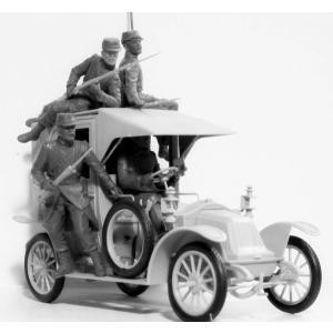ICM 35660 1/35 ルノー「マルヌのタクシー」 1914年 フレンチカー w/フランス歩兵|rainbowten|02