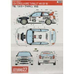 スタジオ27 DC277 1/24 カローラ WRC V-ラリー GB'99 デカール|rainbowten