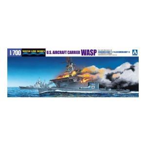 アオシマ 1030 1/700 米国海軍航空母艦 WASP(ワスプ) & 日本海軍潜水艦 伊19|rainbowten