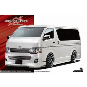 アオシマ ザ・チューンドカー No.28 1/24 シルクブレイズ TRH200V ハイエース Ver.III '10(トヨタ) rainbowten