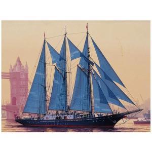 アオシマ 1/350 帆船シリーズ 10 イギリス帆船(3マスト) サー・ウインストン・チャーチル|rainbowten