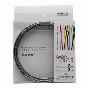 日本化線 自遊自在 2.0mm x 3m 029 メタリックブラック rainbowten