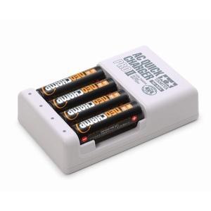 タミヤ 55116 ミニ四駆 単3形ニッケル水素電池 ネオチャンプ(4本)と急速充電器PROII