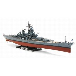 タミヤ 78029 1/350 アメリカ海軍戦艦 BB-63 ミズーリ 1991年仕様(エッチングパーツ/解説資料集付き)|rainbowten