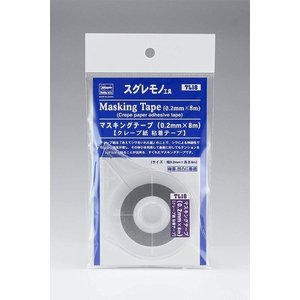 ハセガワ TL18 マスキングテープ(0.2mm x 8m) クレープ紙粘着テープ|rainbowten