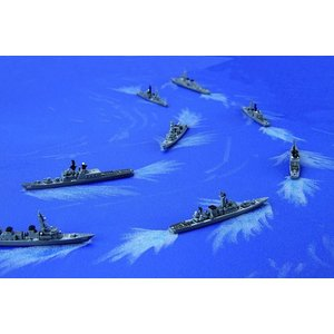 フジミ 集める軍艦シリーズ No.34 1/3000 海上自衛隊第1護衛隊群 1998年 しらね むらさめ はるさめ 等8隻|rainbowten|02