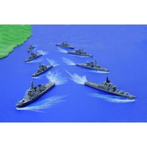フジミ 集める軍艦シリーズ No.37 1/3000 海上自衛隊第4護衛隊群 1998年 ひえい ちょうかい 等8隻|rainbowten|02