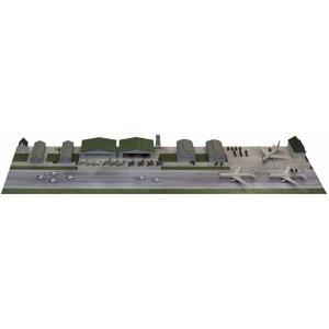 ピットロード SPS03 1/700 航空自衛隊基地 (自衛隊機セット 格納庫 陸軍基地 建物 ペーパーベース)|rainbowten