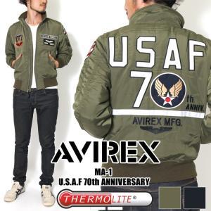 AVIREXキャンペーン対象 AVIREX アヴィレックス アビレックス U.S.A.F. 70th ANNIVERSARY TYPE MA-1 フライトジャケット アウター|rainbunker