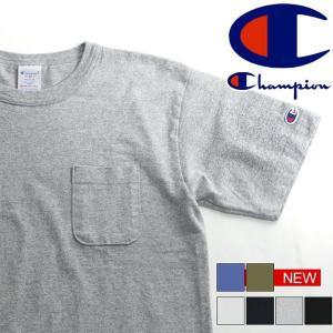 Champion チャンピオン T1011(ティーテンイレブン) ポケット付き US Tシャツ C3-B303 父の日 プレゼント|rainbunker