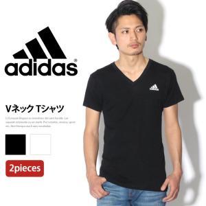 優れた吸汗速乾性により衣服内をドライに保つ。adidas(アディダス) 2PVネックTシャツ  ※こ...