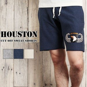 HOUSTON ヒューストン メンズ ショートパンツ ハーフパンツ スウェット rainbunker