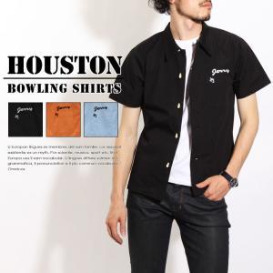 HOUSTON ヒューストン ポートランドプリント ボーリングシャツ 40319 houston メンズ トップス 半袖 開襟|rainbunker