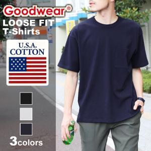 メンズ Tシャツ ビッグTシャツ ビッグシルエット Tシャツ カットソー GOOD WEAR グッドウェア|rainbunker