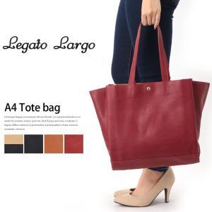 Legato Largo A4 あおり トートバッグ 鞄 通勤 通学 大人 手提げバッグ ハンドバッグ シンプル バッグ レディース フェイクレザー|rainbunker