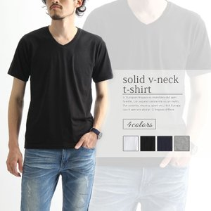 メンズ Vネック Tシャツ 半袖 ポイント消化|rainbunker