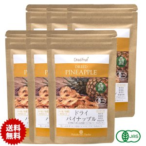 ドライパイナップル 65g JASオーガニック タイ産有機 6袋 JAS Certified Organic Dried Pineapple|rainforest-herbs
