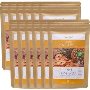 ドライパイナップル 65g JASオーガニック タイ産有機 12袋 JAS Certified Organic Dried Pineapple|rainforest-herbs