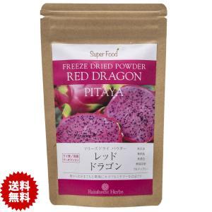 レッドドラゴンフルーツ ピタヤ フリーズドライパウダー 60g 1袋 Red Dragon Fruit Freeze Dried Powder PITAYA|rainforest-herbs